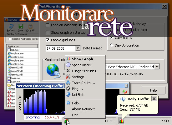 Monitorare la rete su Windows